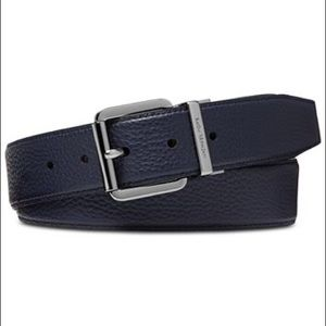 Michael Kors Reversible Casual Belt Navy